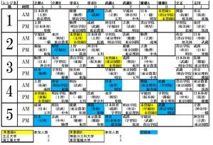 2015女子リーグ対戦表
