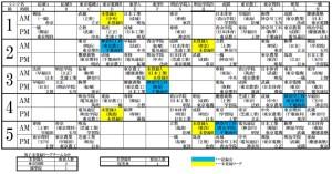 2015男子リーグ対戦表